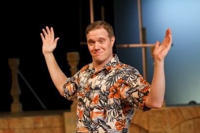 "Matt Shimkus as Benedick in Seattle Shakespeare Company's 2013 production of ""Much Ado About Nothing."" Photo by John Ulman."